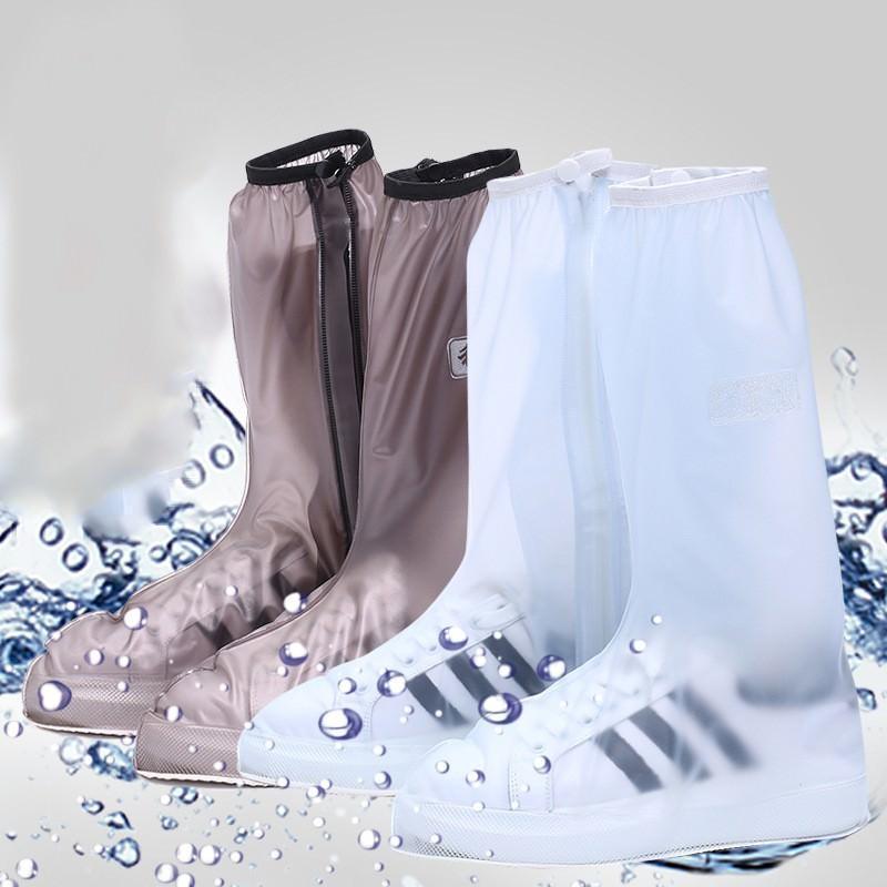 Водонепроницаемые сапоги-чехлы на обувь от дождя для мужчин/женщин: ПВХ, высокое голенище