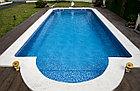 Блочный  пленочный бассейн 20х10х1.6м, фото 3