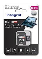 Карта памяти Integral INMSDX128G-100/90V30 128GB + адаптер