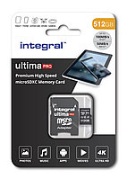 Карта памяти Integral INMSDX512G-100/80V30 512GB + адаптер