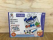 5990-6 Пазл пластиковый океан Toy Bricks puzzle 4 in 1 разные 20*14, фото 3