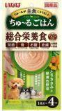 INABA ЧАО 4шт. по 14гр пюре куриное филе+овощи  Соус-лакомство для собак