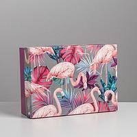 Коробка складная «Фламинго», 21 × 15 × 7 см