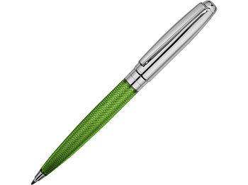 Ручка шариковая Стратосфера, зеленый/серебристый