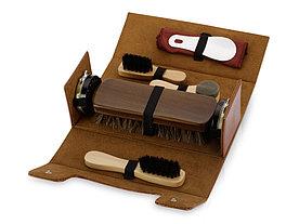 Набор для чистки обуви Сундучок, коричневый