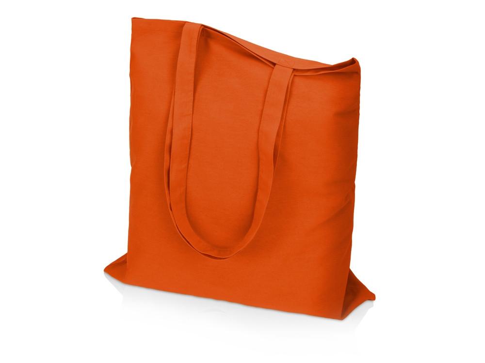 Сумка для шопинга Carryme 140 хлопковая, 140 г/м2, оранжевый
