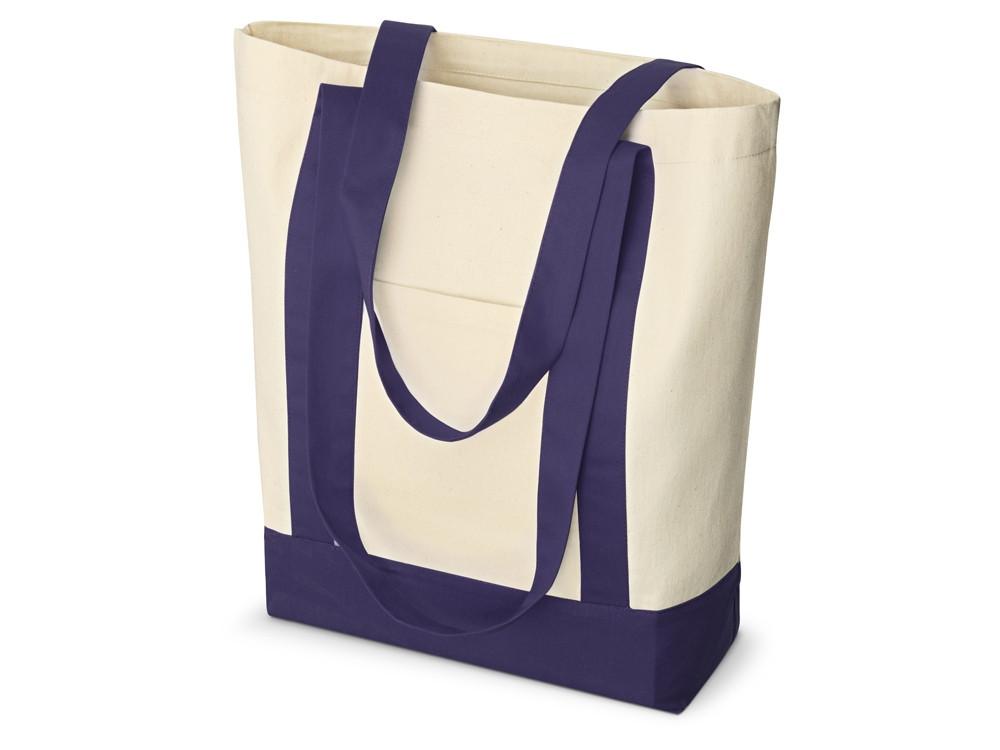 Сумка для шопинга Cotton, натуральный/темно-синий