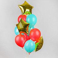 Букет из шаров 'Воздушный', латекс макарун, фольга, набор 12 шт.