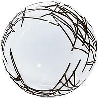 Шар полимерный 18'' сфера 3D, Deco Bubble 'Паутина' прозрачный, 1 шт.