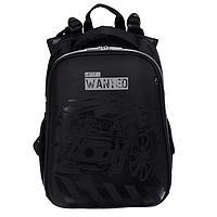 Рюкзак каркасный deVENTE Choice 38 х 28 х 16 см, Most Wanted, чёрный/синий