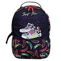 Рюкзак молодежный с эргономичной спинкой, deVENTE Red Label, 39 х 30 х 17 см, Sneakers, синий
