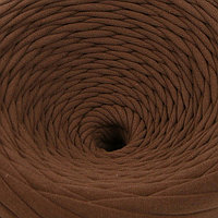 Пряжа трикотажная широкая 100м/320±15гр, ширина нити 7-9 мм (какао)