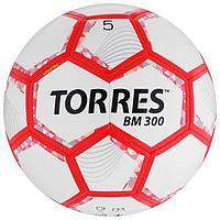 Мяч футбольный TORRES BM 300, размер 5, 28 панелей, глянцевый TPU, 2 подкладочных слоя, машинная сшивка, цвет