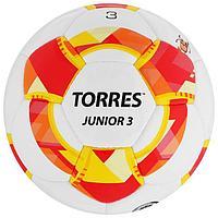 Мяч футбольный TORRES Junior-3, размер 3, вес 270-290 г, глянцевый ПУ, 3 слоя, 32 панели, ручная сшивка, цвет