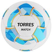 Мяч футбольный TORRES Match, размер 5, 32 панели, PU, 4 подкладочных слоя, ручная сшивка, цвет
