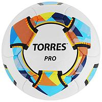Мяч футбольный TORRES Pro, размер 5, 14 панелей, PU, 4 подкладочных слоя, ручная сшивка, цвет