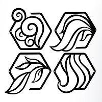Панно 'Четыре элемента' набор из 4 шт., 20х20см