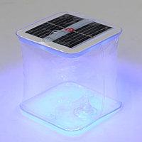 Плавающий светильник ПВХ, надувной, солнечная батарея, 10LED, квадратный, RGB