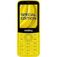 """Сотовый телефон Nobby 220, 2.4"""", 32Мб, microSD, 0.3Мп, 2sim, Bt, 1000мАч, банановый"""