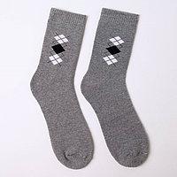Носки мужские махровые, цвет серый, размер 25-27 (комплект из 6 шт.)