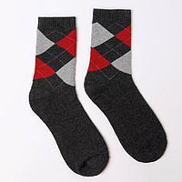 Носки мужские махровые, цвет тёмно-серый, размер 25-27 (комплект из 6 шт.)
