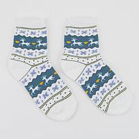 Носки детские махровые 'Норвегия', цвет джинсовый, размер 20-22 (комплект из 6 шт.)