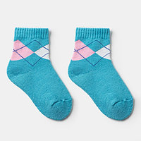 Носки детские махровые, цвет голубой, размер 20-22 (комплект из 6 шт.)