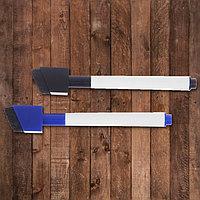 Маркеры на водной основе со стиралкой и магнитом 2 шт., цвет чёрный и синий