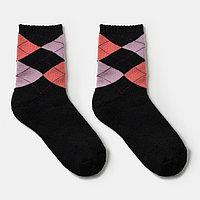 Носки детские махровые, цвет чёрный, размер 18-20 (комплект из 6 шт.)