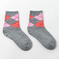 Носки детские махровые, цвет серый, размер 20-22 (комплект из 6 шт.)