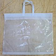 Упаковка, пакет белый с ручкой  46х56 для текстиля, одеял и подушек