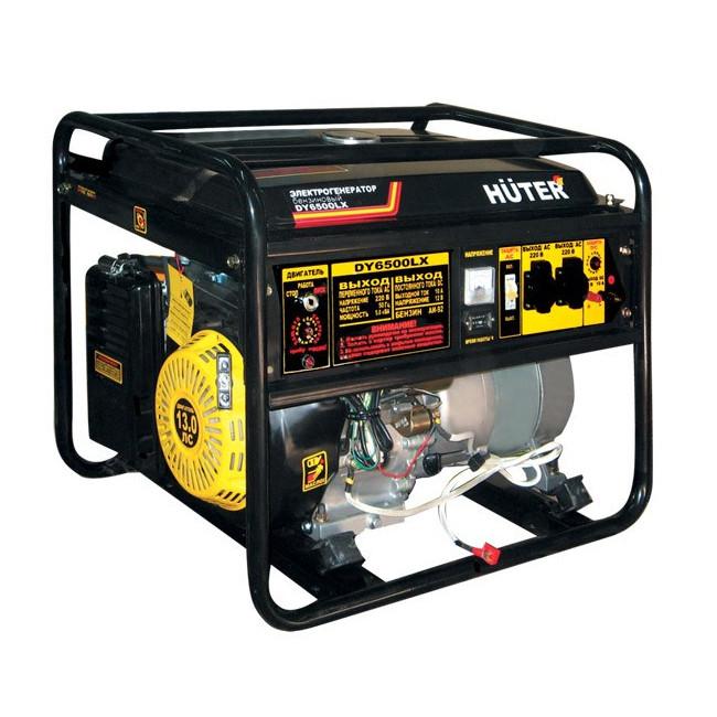 Электрогенератор DY6500LX-электростартер Huter