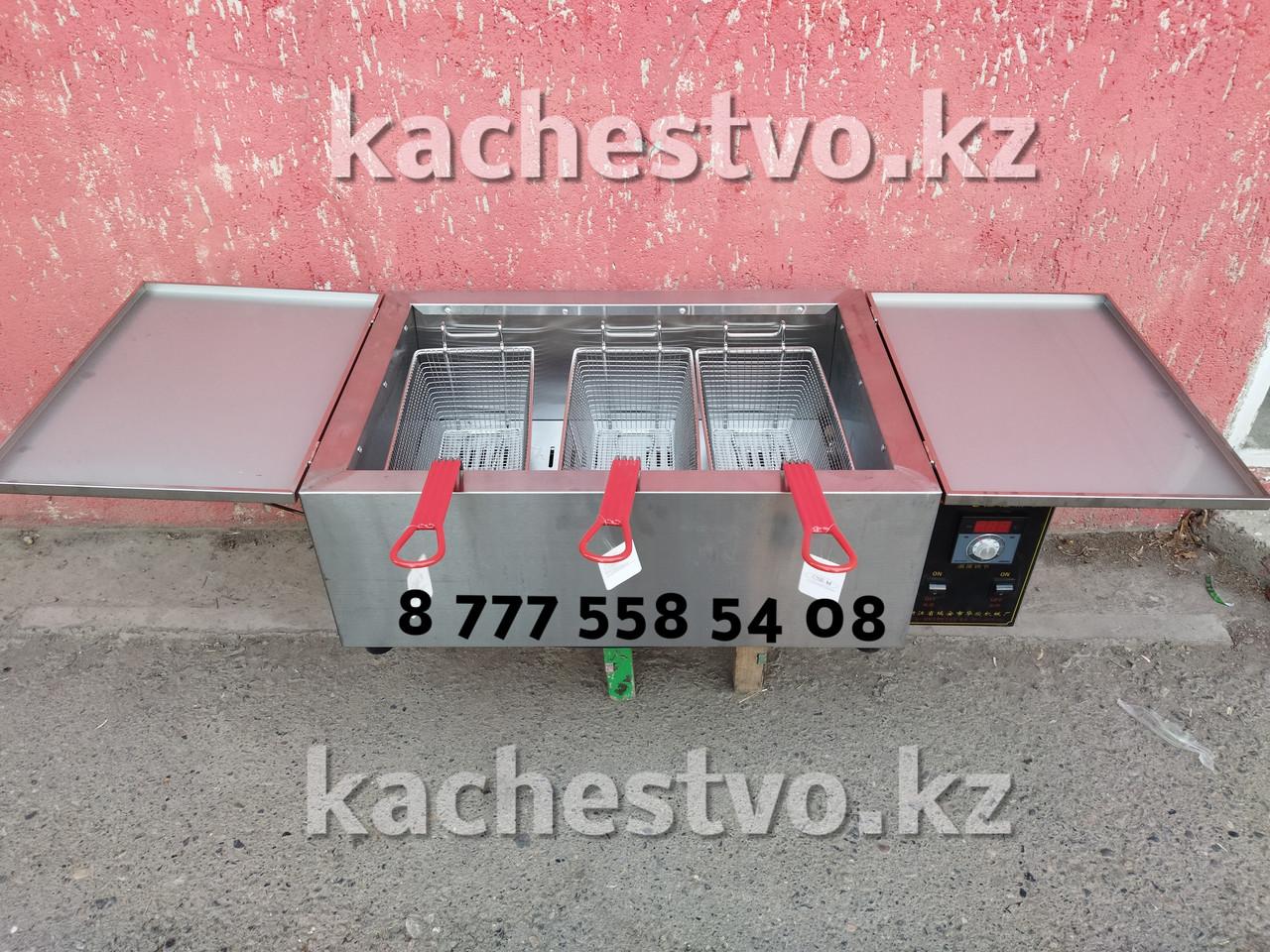 Фритюрница 50 - 300°C Чикен Аппарат на 25 литров 220В 3 корзины от KFC