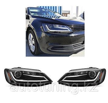 Альтернативная оптика (передние фары тюнинг) на Volkswagen Jetta 2011-2015