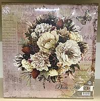 Фотоальбом 500 фото 10х15 см в твердой обложке Букет с цветами и шишками в чехле