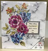 Фотоальбом 500 фото 10х15 см в твердой обложке Flower в чехле