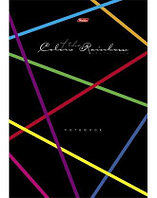 """Бизнес-блокнот клетка 80л """"Rainbow"""" Hatber"""