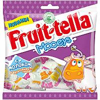 """Жевательный мармелад Fruittella """"Mooeys"""", с молоком и фруктовым соком, 65г, пакет, европодвес 825379"""