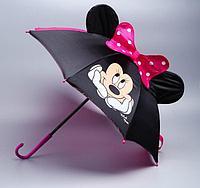 Зонт детский объемный с ушками Минни Маус диаметр 51 см