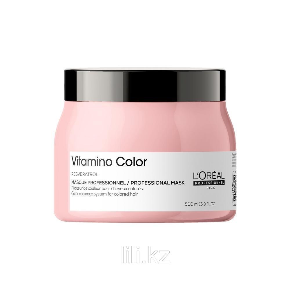 Маска - желе для защиты цвета окрашенных волос L'Oreal Professionnel Vitamino Color Masque 500 мл.