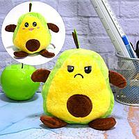 Мягкая игрушка перевертыш с улыбающимся и хмурящимся лицом авокадо
