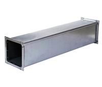 Воздуховод квадратного (прямоугольного) сечения из оцинкованной стали. 100мм х 100мм. L-1 250мм