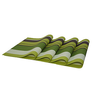 Комплект из 4-х сервировочных ковриков, цвет зеленый День Матери!, фото 2