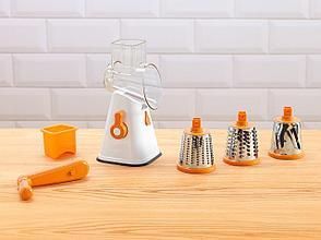 Ручная терка на присоске с 3 насадками оранжевая День Матери!, фото 3