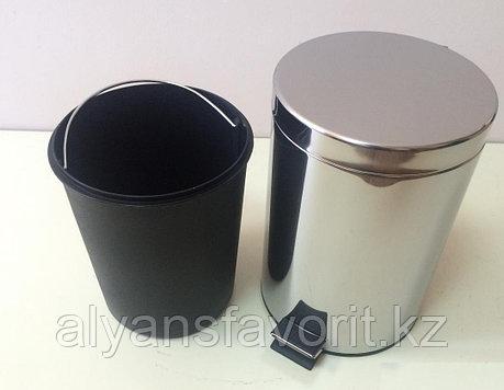 Урна с педалью для мусора 12 литров  (хром). Турция, фото 2