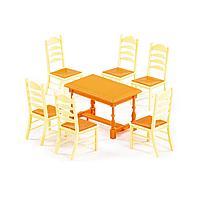 Набор мебели для кукол №6 (7 элементов) (в пакете) (54395)