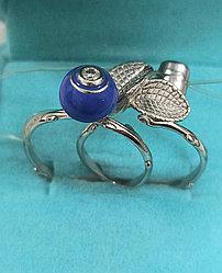 Кольцо серебро,из 2 колец Размер кольца 18, 5