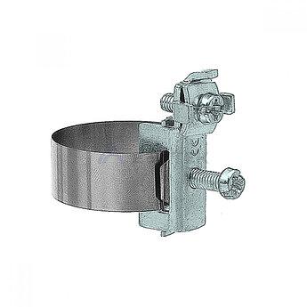 Хомут ленточный 20-48 мм, медь никелированная
