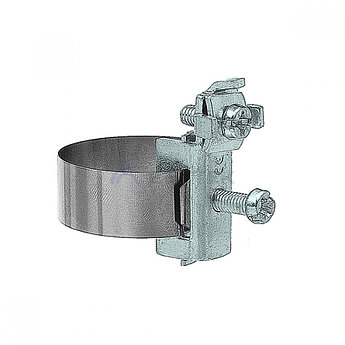Хомут ленточный 20-115 мм, медь никелированная