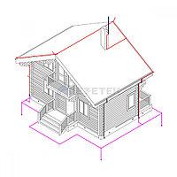 Комплект молниезащиты частного дома MZ 8 Д для деревянного фасада, оцинк.